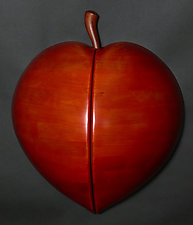 Peach Perfection Wall Sculpture by Mark Levin (Wood Wall Sculpture)