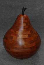 Roly-Poly Pear Sculpture by Mark Levin (Wood Sculpture)