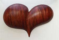 Rapturous Heart Wall Sculpture by Mark Levin (Wood Wall Sculpture)