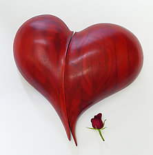 Blended Heart Wall Sculpture by Mark Levin (Wood Wall Sculpture)