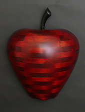Applelicious Wall Sculpture by Mark Levin (Wood Wall Sculpture)