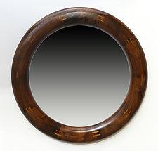 Sarah Alicia Round Mirror by Mark Levin (Wood Mirror)
