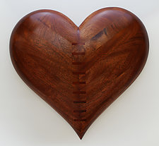 Mended Heart Wall Sculpture by Mark Levin (Wood Wall Sculpture)
