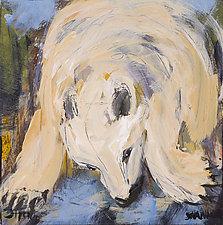 White Bear by Shannon Bueker (Acrylic Painting)