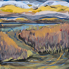 Marsh and Sky by Shannon Bueker (Acrylic Painting)