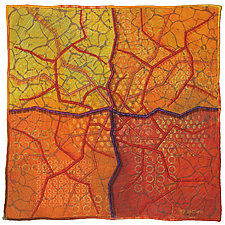 Geoforms: Fractures No.9 by Michele Hardy (Fiber Wall Hanging)