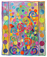 Wildflowers No.3 by Michele Hardy (Fiber Wall Hanging)