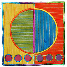 Circles No.38 by Michele Hardy (Fiber Wall Hanging)