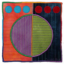 Circles No.32 by Michele Hardy (Fiber Wall Hanging)