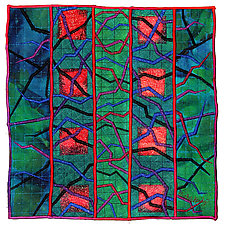 Geoforms: Fractures No.11 by Michele Hardy (Fiber Wall Hanging)