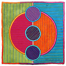 Circles No.39 by Michele Hardy (Fiber Wall Hanging)