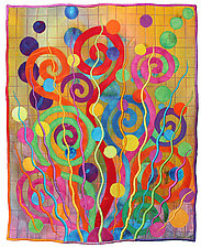 Wildflowers No.1 by Michele Hardy (Fiber Wall Hanging)