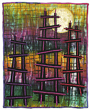 Ladders No.15 by Michele Hardy (Fiber Wall Hanging)