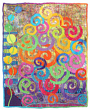 Wildflowers No.2 by Michele Hardy (Fiber Wall Hanging)