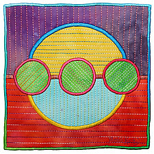 Circles No.40 by Michele Hardy (Fiber Wall Hanging)