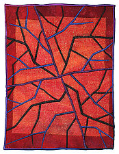 Geoforms: Fractures No.10 by Michele Hardy (Fiber Wall Hanging)