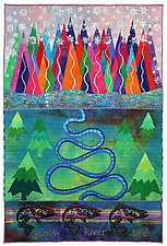 Elements No.12: Blue River by Michele Hardy (Fiber Wall Hanging)