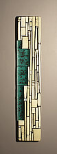Bamboo by Vicky Kokolski and Meg Branzetti (Art Glass Wall Sculpture)