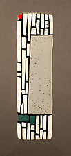 Gray Wall II by Vicky Kokolski and Meg Branzetti (Art Glass Wall Sculpture)