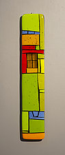 House Party X by Vicky Kokolski and Meg Branzetti (Art Glass Wall Sculpture)