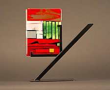 Mini Art: Fences by Vicky Kokolski and Meg Branzetti (Art Glass Sculpture)