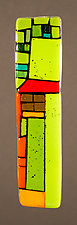 House Party Green XXI by Vicky Kokolski and Meg Branzetti (Art Glass Wall Sculpture)