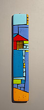 House Party III by Vicky Kokolski and Meg Branzetti (Art Glass Wall Sculpture)