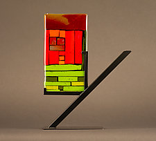 Mini Art: Backyard by Vicky Kokolski and Meg Branzetti (Art Glass Sculpture)