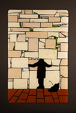 Western Wall: Solitude by Vicky Kokolski and Meg Branzetti (Art Glass Wall Sculpture)