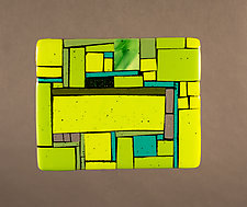 Neighborhood Green by Vicky Kokolski and Meg Branzetti (Art Glass Wall Sculpture)