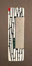 Gray Wall I by Vicky Kokolski and Meg Branzetti (Art Glass Wall Sculpture)