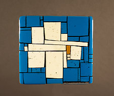 Egyptian Blue by Vicky Kokolski and Meg Branzetti (Art Glass Wall Sculpture)