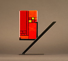 Mini Art: Divider by Vicky Kokolski and Meg Branzetti (Art Glass Sculpture)