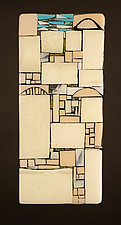Jerusalem I by Vicky Kokolski and Meg Branzetti (Art Glass Wall Sculpture)