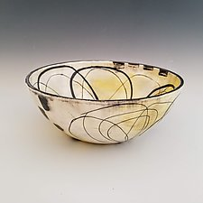 Abstract Floral Bowl by Whitney Smith (Ceramic Bowl)