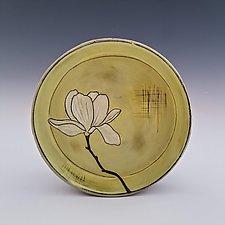 Magnolia Blossom Dessert Platter by Whitney Smith (Ceramic Platter)