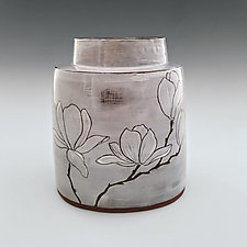 Magnolia Vase II by Whitney Smith (Ceramic Vase)