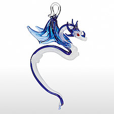 Ghost Dragon by Milon Townsend (Art Glass Ornament)