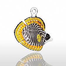 Butterfly Fish by Milon Townsend (Art Glass Ornament)