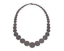 Pearl Silhouette Necklace by Ashley Buchanan (Silver & Brass Necklace)