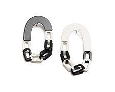 Links with Links Earrings by Ashley Buchanan (Brass Earrings)