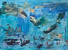 Underwater Panorama by Pamela Acheson Myers (Acrylic Painting)