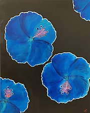 Frisky Hibiscus by Pamela Acheson Myers (Acrylic Painting)