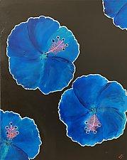 Frisky Hibiscus by Pamela Acheson Myers (Acrylic Painting)