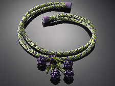 Blackberries Necklace by Carole Grisham (Beaded Necklace)