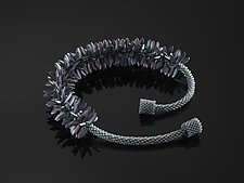Purple Anemone Necklace by Carole Grisham (Beaded Necklace)