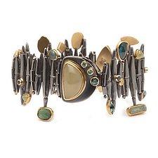 Metropolis Bracelet by Alison Antelman (Gold, Silver & Stone Bracelet)
