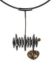 Vertical Horizon Necklace by Alison Antelman (Silver & Stone Necklace)