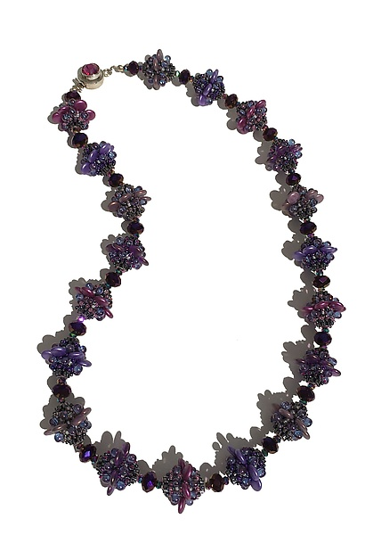 Purple Lentil Necklace
