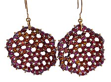 Medallion Earrings by Kathy King (Beaded Earrings)